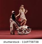 shopping woman concept | Shutterstock . vector #1169758738