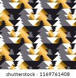 luxury geometric christmas tree ... | Shutterstock .eps vector #1169761408
