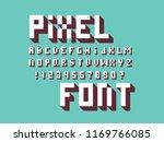 pixel font. vector alphabet...   Shutterstock .eps vector #1169766085
