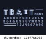 trait font. vector alphabet... | Shutterstock .eps vector #1169766088