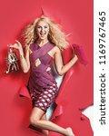 shopping woman concept | Shutterstock . vector #1169767465