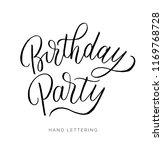 birthday party. hand drawn... | Shutterstock .eps vector #1169768728