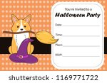 halloween invite. costume party ... | Shutterstock .eps vector #1169771722