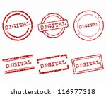 digital stamps | Shutterstock .eps vector #116977318