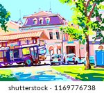 digital painting of sunny day... | Shutterstock .eps vector #1169776738