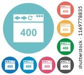 browser 400 bad request flat... | Shutterstock .eps vector #1169778835