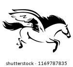 flying pegasus black vector... | Shutterstock .eps vector #1169787835