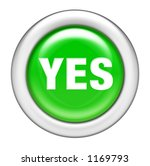 Green Yes Button - stock photo