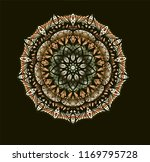 mandala template in  green and... | Shutterstock .eps vector #1169795728