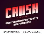 crush display font design ... | Shutterstock .eps vector #1169796658