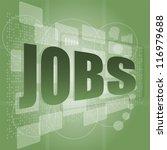 Stock photo the word jobs on digital screen social concept raster 116979688