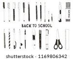 hand drawn stationery set.... | Shutterstock .eps vector #1169806342