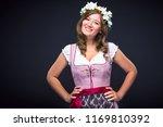 beautiful woman in a... | Shutterstock . vector #1169810392