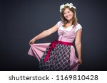 beautiful woman in a... | Shutterstock . vector #1169810428