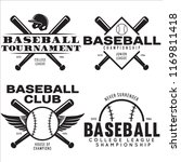baseball labels badges logos... | Shutterstock .eps vector #1169811418