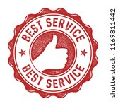best service vector stamp label | Shutterstock .eps vector #1169811442