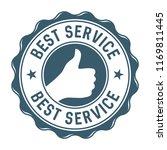 best service vector stamp label | Shutterstock .eps vector #1169811445