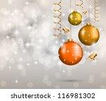 elegant classic christmas... | Shutterstock .eps vector #116981302