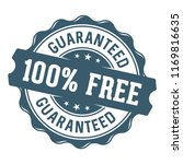 100 percent free vector label... | Shutterstock .eps vector #1169816635