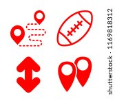 4 street icons with route and...   Shutterstock .eps vector #1169818312