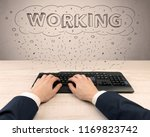 first person view of hand ... | Shutterstock . vector #1169823742