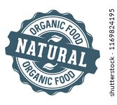 natural organic food stamp label | Shutterstock .eps vector #1169824195