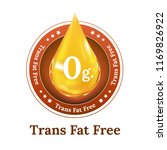 trans fat free label for food... | Shutterstock .eps vector #1169826922