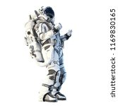 astronaut on white. mixed media | Shutterstock . vector #1169830165