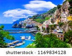 scenic amafi coast. italian... | Shutterstock . vector #1169834128