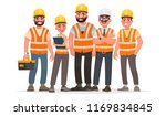 builders dressed in protective... | Shutterstock .eps vector #1169834845