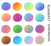 set of colorful abstract water... | Shutterstock . vector #116983978