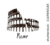 colosseum in rome | Shutterstock .eps vector #1169840185