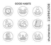 good habits icon set | Shutterstock .eps vector #1169841508