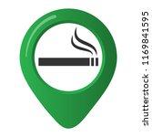 smoking area marker map pin... | Shutterstock .eps vector #1169841595