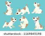jack russel terrier dog cartoon ... | Shutterstock .eps vector #1169845198