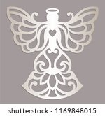 carved openwork angel... | Shutterstock .eps vector #1169848015