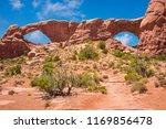 sandstone arches in arches... | Shutterstock . vector #1169856478