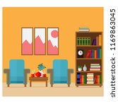 a cozy room with armchairs  a...   Shutterstock .eps vector #1169863045
