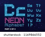 digital circuit neon alphabet | Shutterstock .eps vector #1169866552