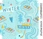 modern winter seamless pattern... | Shutterstock .eps vector #1169886832