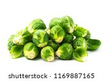 fresh bruxelles sprouts  | Shutterstock . vector #1169887165