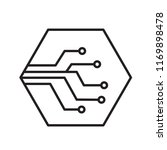 thin line network digital... | Shutterstock .eps vector #1169898478