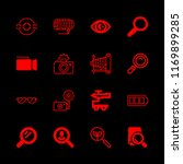 16 lens icons with camera full... | Shutterstock .eps vector #1169899285