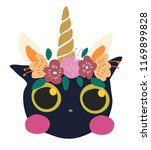 cute sweet little cat dressed... | Shutterstock .eps vector #1169899828
