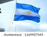 flag of argentina of a cruise... | Shutterstock . vector #1169907445