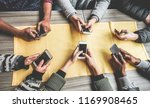 group of friends having fun... | Shutterstock . vector #1169908465