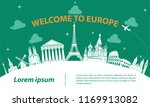 europe top famous landmark... | Shutterstock .eps vector #1169913082