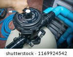 clear the sand filter of the... | Shutterstock . vector #1169924542