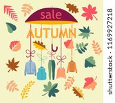 vector background autumn sale.... | Shutterstock .eps vector #1169927218
