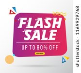 flash sale banner template... | Shutterstock .eps vector #1169929768